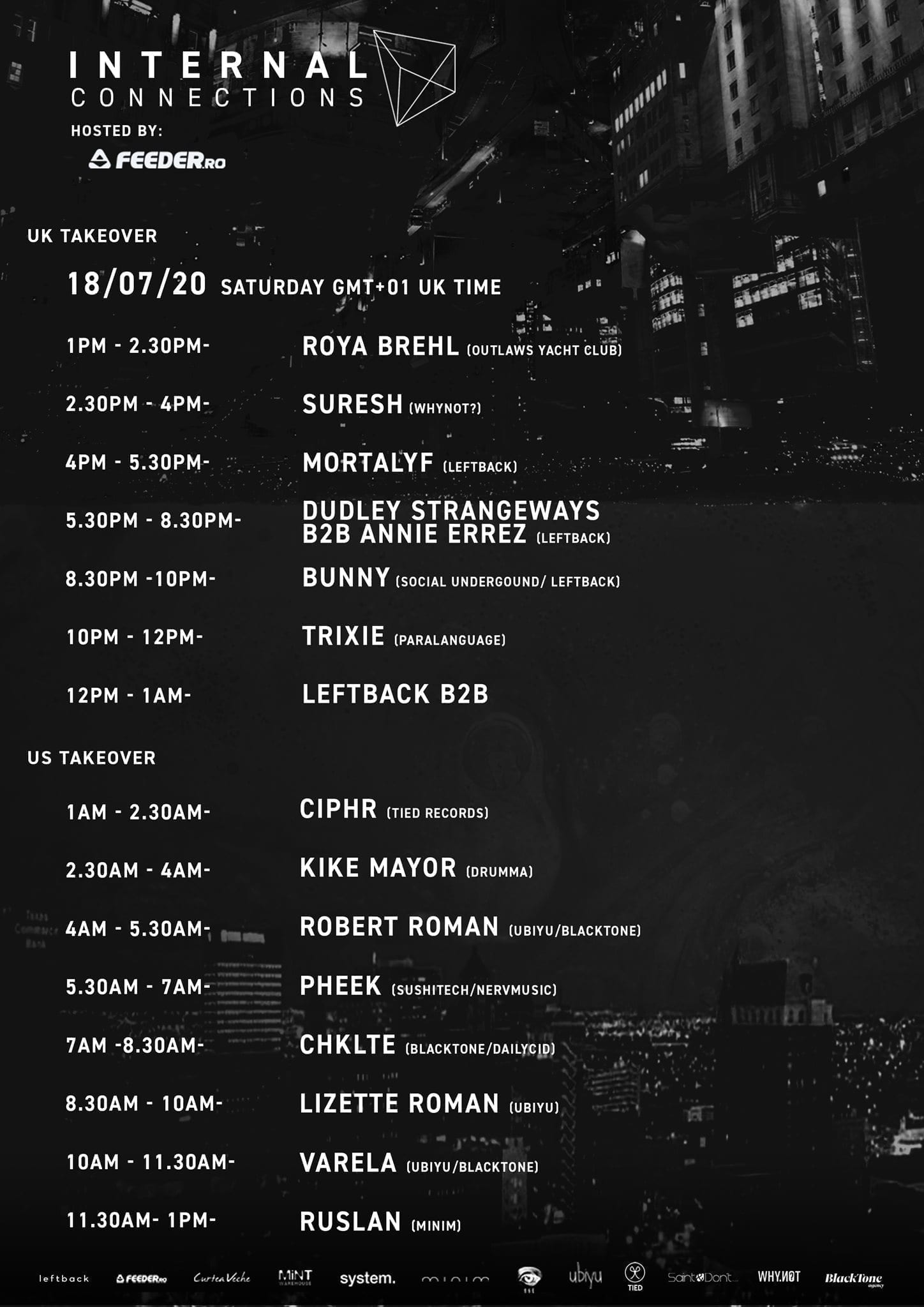 Internal Connections - Livestream [Part 2] line up & time table