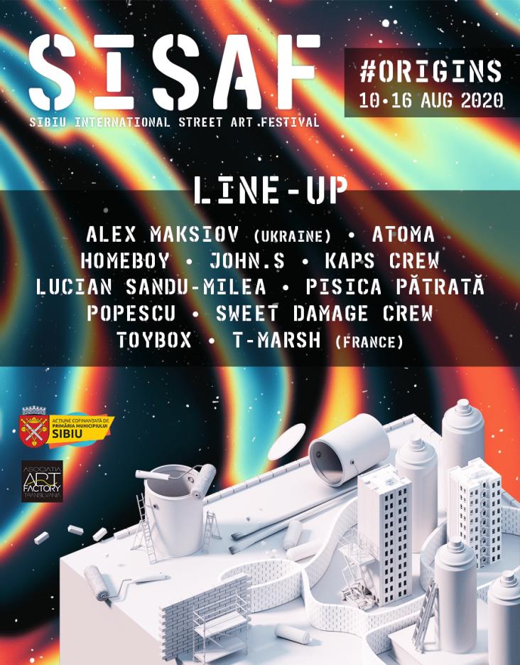 Întoarcere la origini la Sibiu International Street Art Festival, între 10-16 august. Cine sunt artiștii stradali confirmați