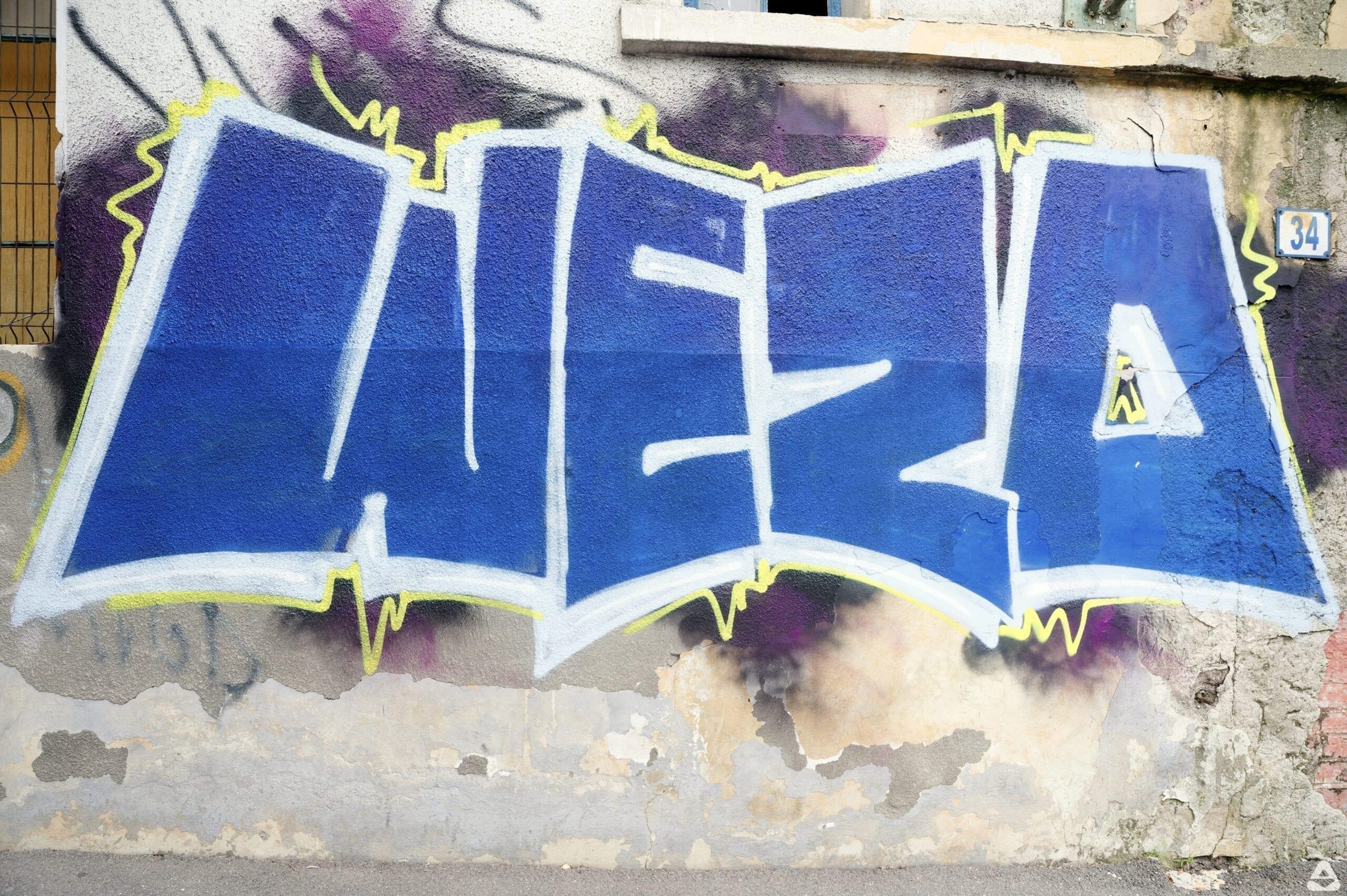 WEZO graffiti Bucharest Calea Floreasca 34 2020