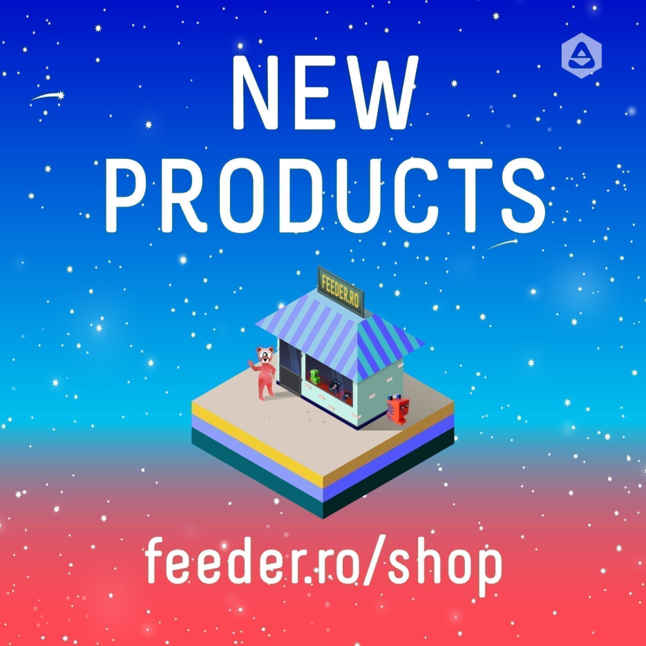 The feeder.ro/shop offers a unique selection of works and products created by local artists