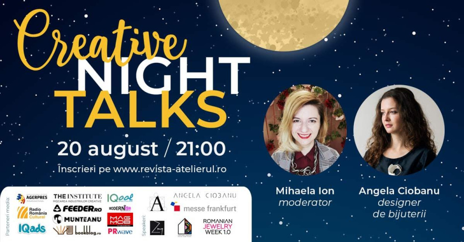 Creative Night Talks – platformă de conferințe online create de Revista Atelierul