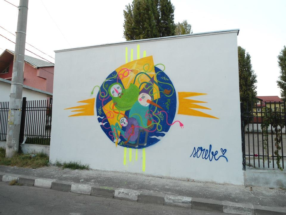 Serebe street art Bucharest