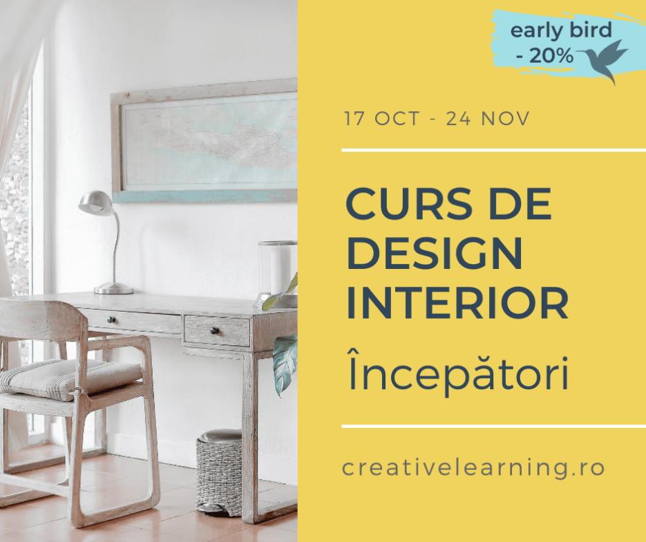 Curs Design Interior pentru începători cu Designist.ro