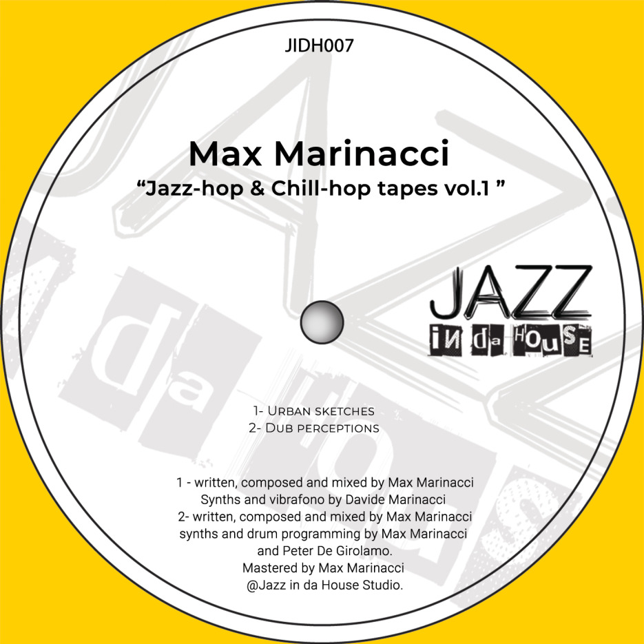 Max Marinacci reveals 'Jazz-hop and Chill-hop tapes vol.1', dissolving the barriers between chilled and jazzy sounds and hip-hop, to create an atmospheric and instrumental soundscape