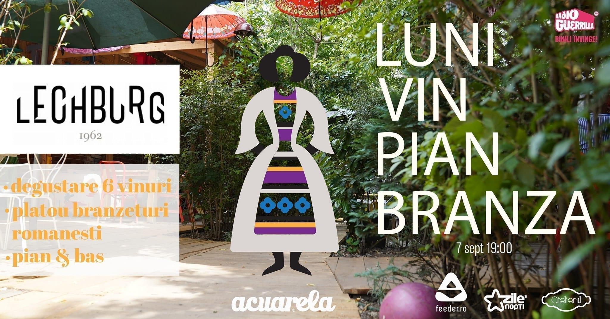 Luni Pian Vin Acuarela