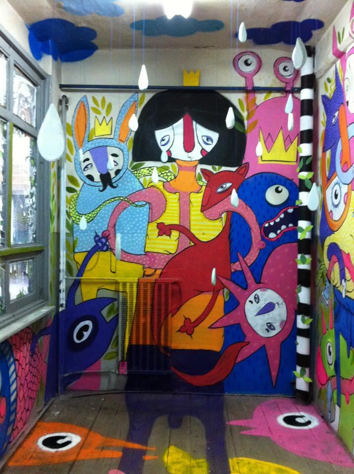 Serebe - Parcarea Ciclop Work in progress street art 2013