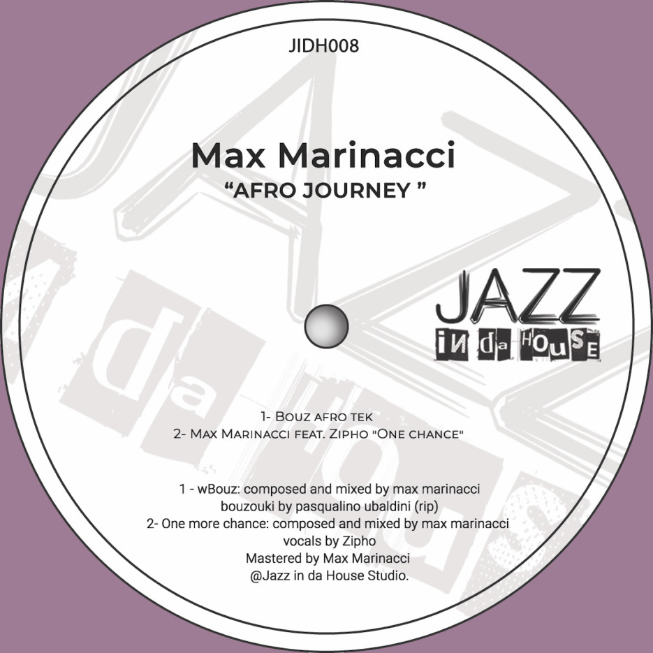 Max Marinacci is back with this afro exploring EP, for his jazzy house inspired label