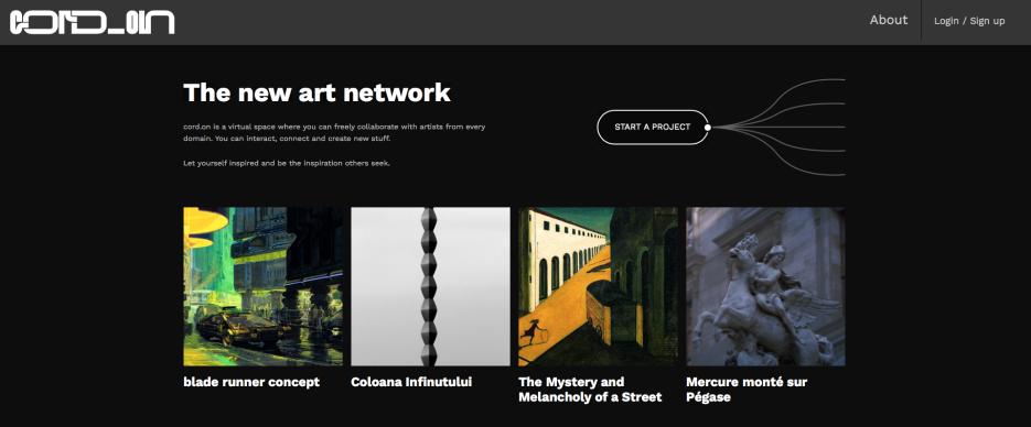cord.on – rețeaua de creație a noilor artiști