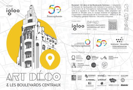 B:MAD 2.0 #francophonie - Lansarea primului traseu Art Deco din București, cu audioghid în limba franceză