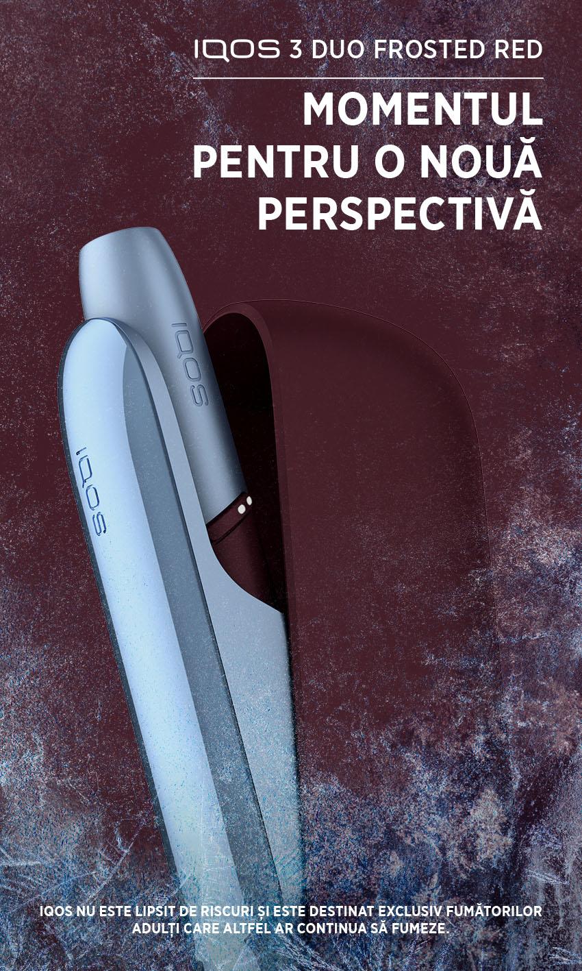 IQOS lansează un nou dispozitiv în ediție limitată, IQOS 3 DUO Frosted Red