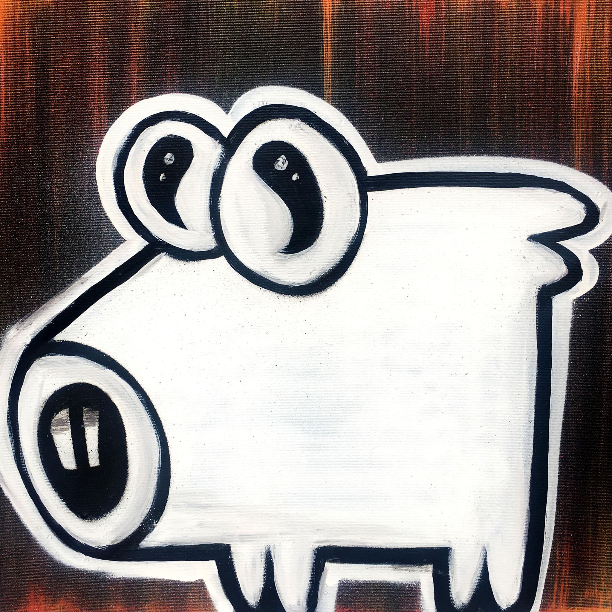 "AEUL - ""Time"" (Timpul), graffiti art on canvas"