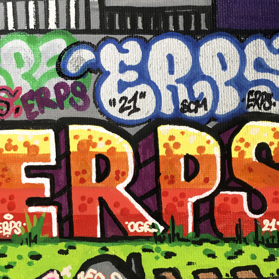 One of a kind artwork by graffiti legend ERPS