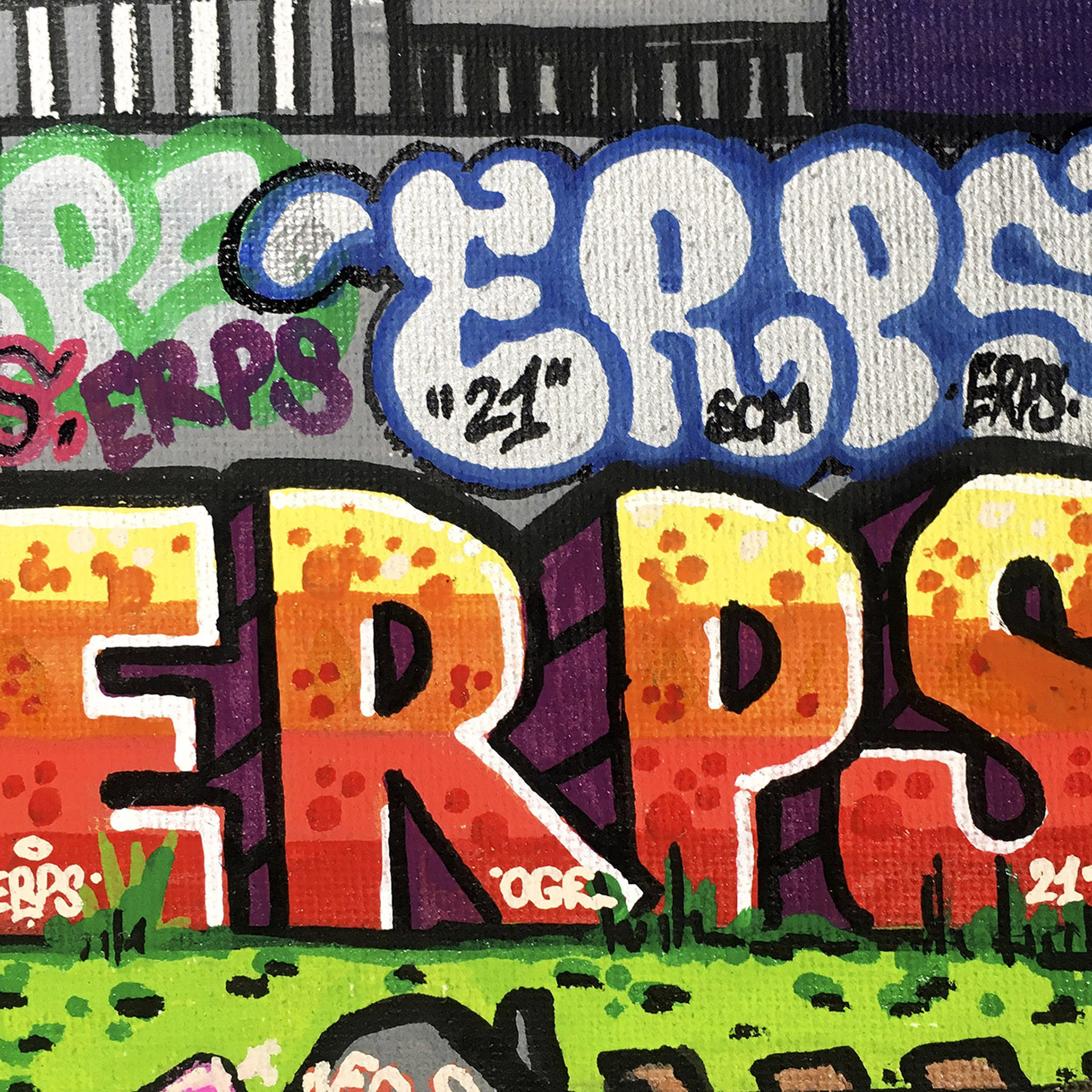 one of a kind artworkgraffiti legend erps • feederro