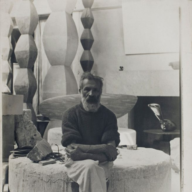 Constantin Brancusi Self portrait in the studio