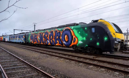 2020 Msero Mser graffiti train