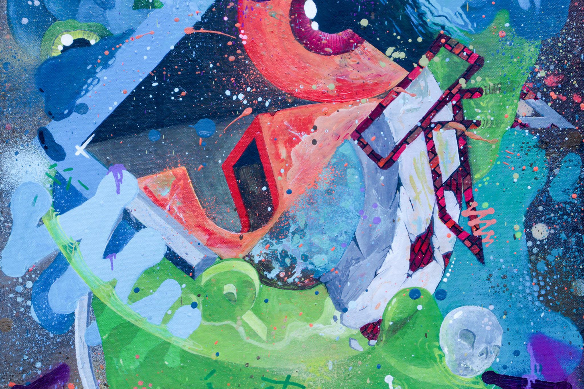 HOMEBOY LDJ - Calypso, spray & marker on canvas (2011)