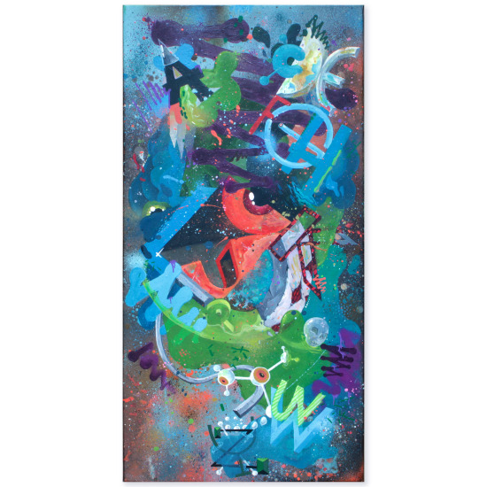 HOMEBOY LDJ - Calypso, spray & marker on canvas (2011)