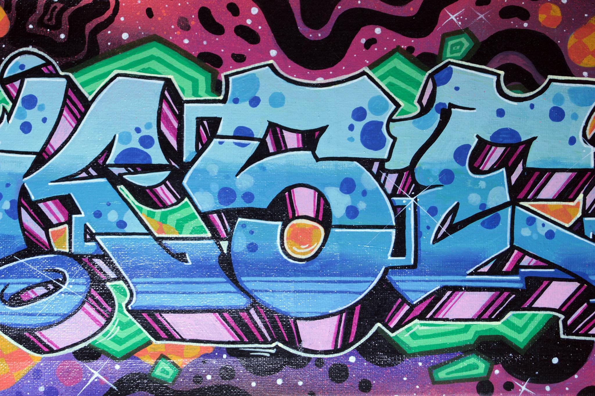 Oksen aka NESK graffiti rsh crew 2020 painting