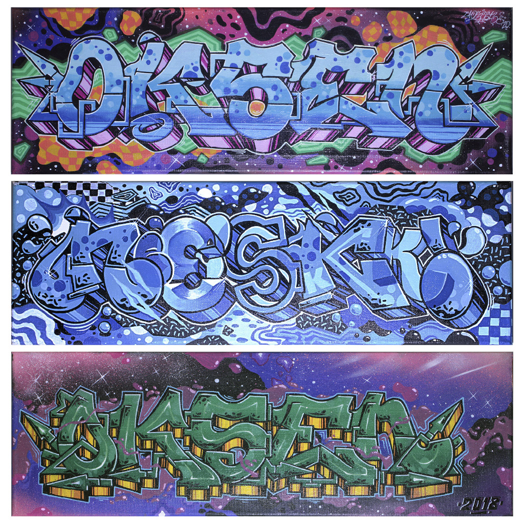 Nesk aka Oksen graffiti paintings