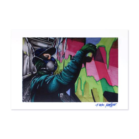 Nesk print signed by Mser
