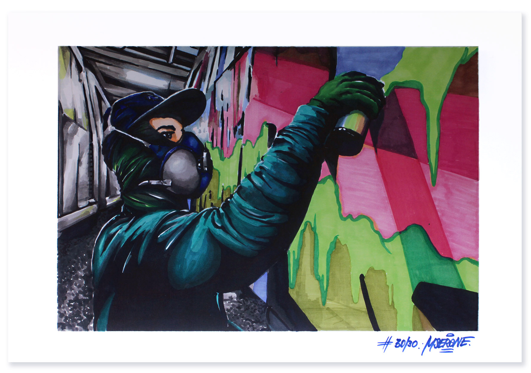 Nesk - poster, digital print signed by Mser