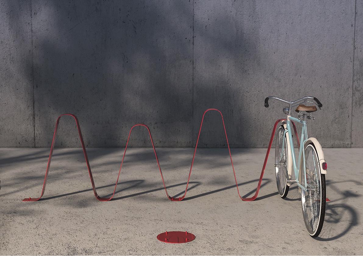 Monkey Bike Rack by Alina Moise