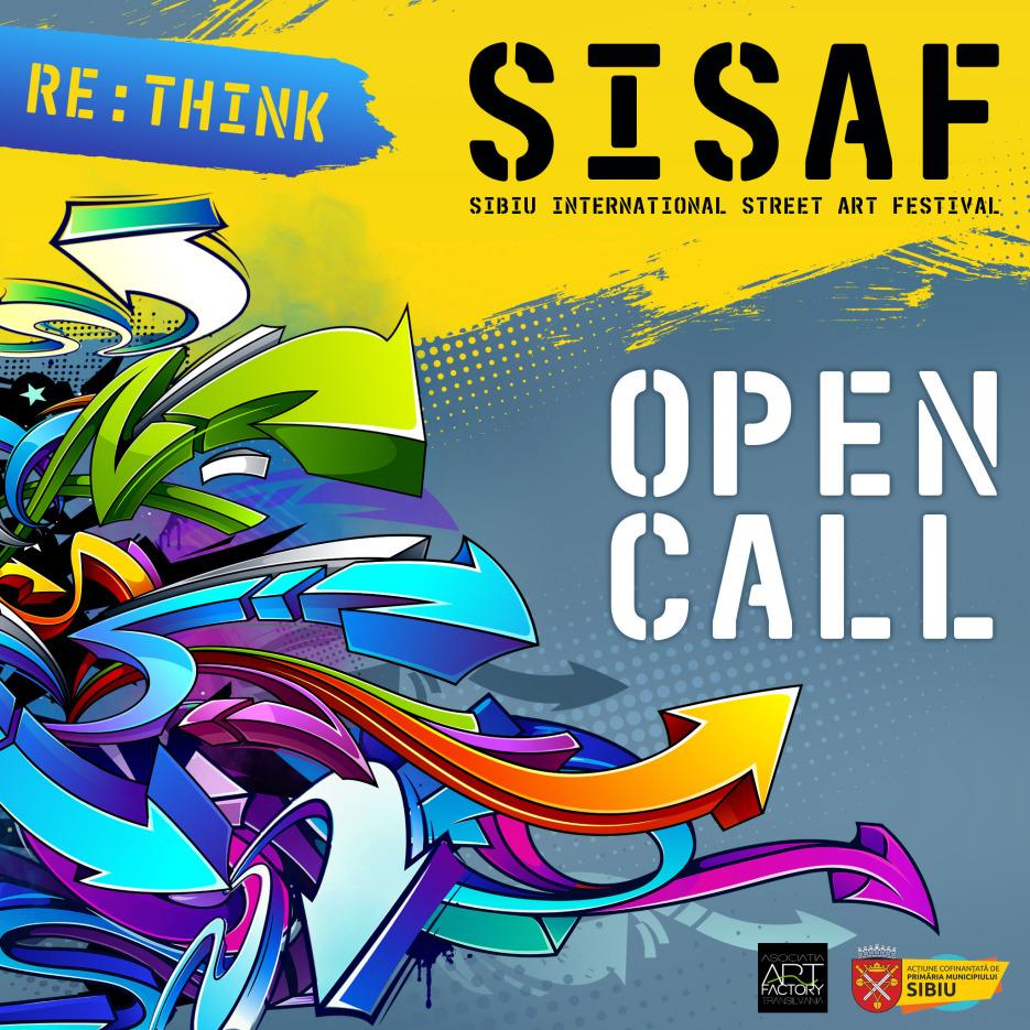 """Apel de proiecte pentru Sibiu International Street Art Festival 2021 cu tema """"Re:Think"""""""