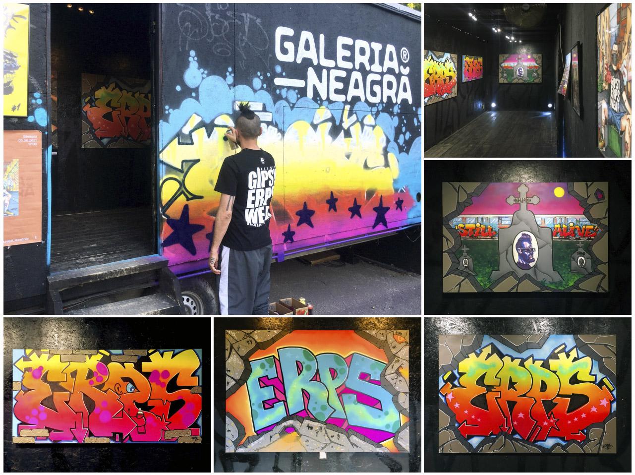ERPS - Erpstamentul graffiti exhibition @ Galeria Neagră