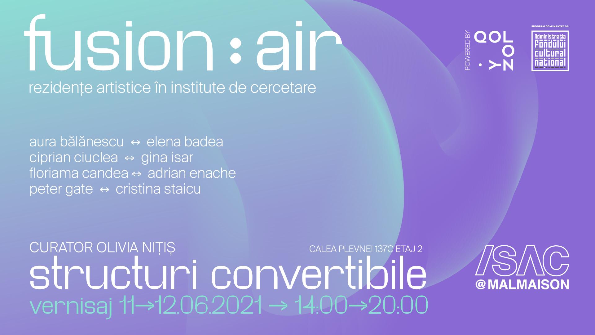 Expoziția Fusion:AIR 2021 – Structuri convertibile