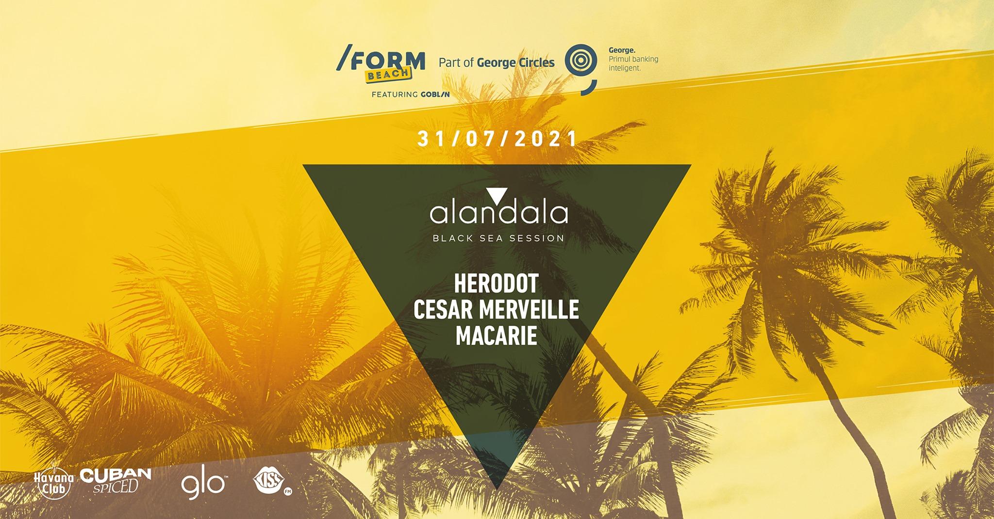 Alandala Herodot, Cesar Merveille, Macarie at /FORM Beach
