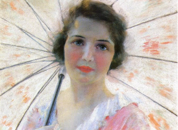 Reid Robert Lewis - Lady with a Parasol