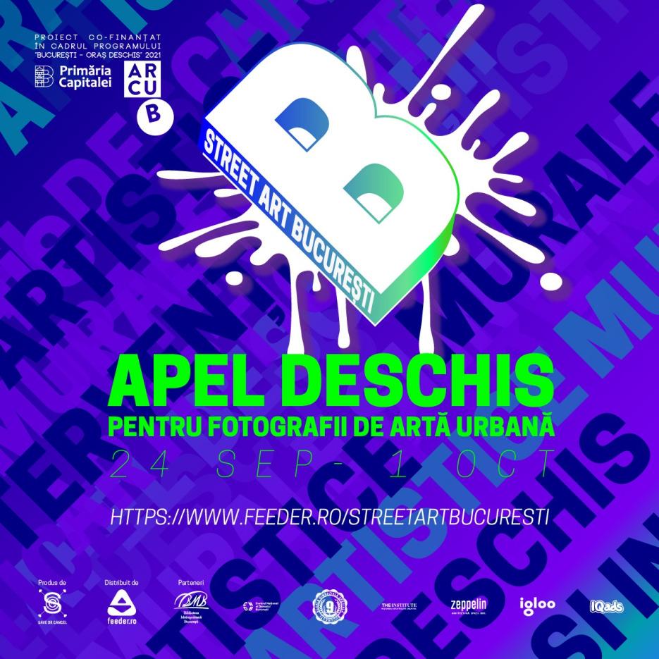 Apel deschis pentru fotografii de artă urbană Street Art București