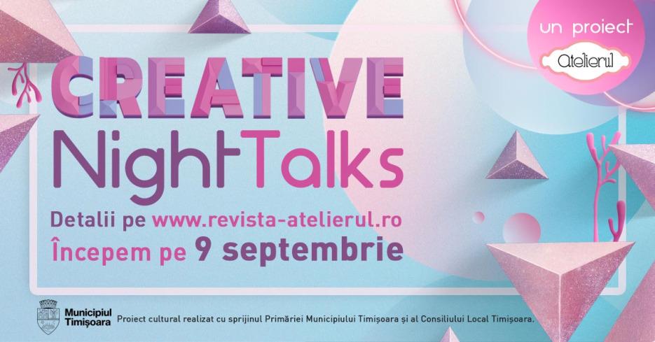 Un nou sezon de conferinte online Creative Night Talks incepe pe 9 septembrie