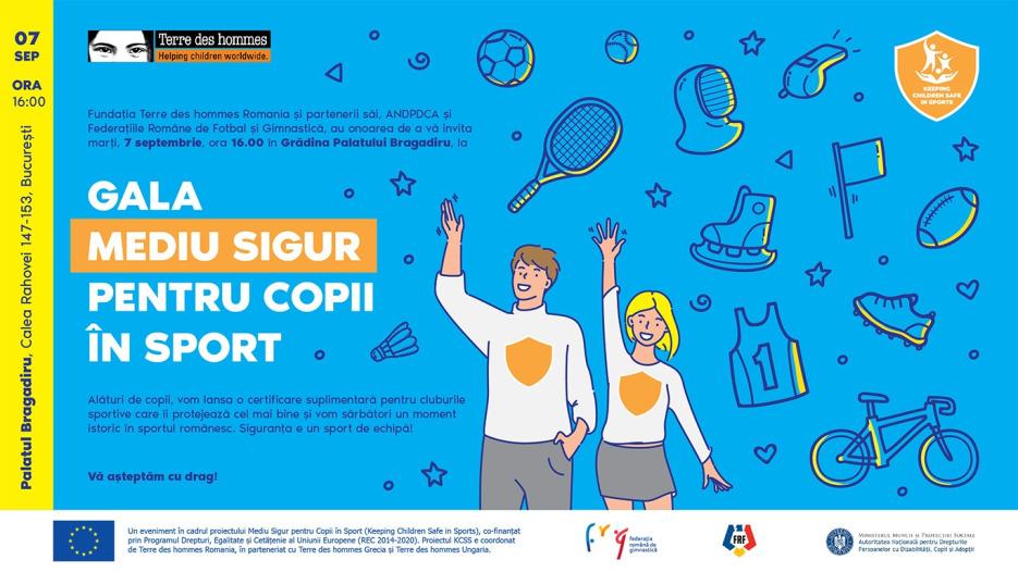 Gala Mediu sigur pentru copii în sport