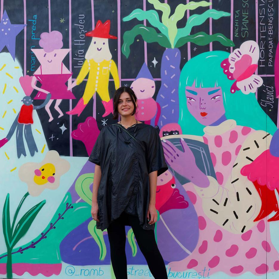 Romb x Street Art Bucuresti la BMB George Cosbuc