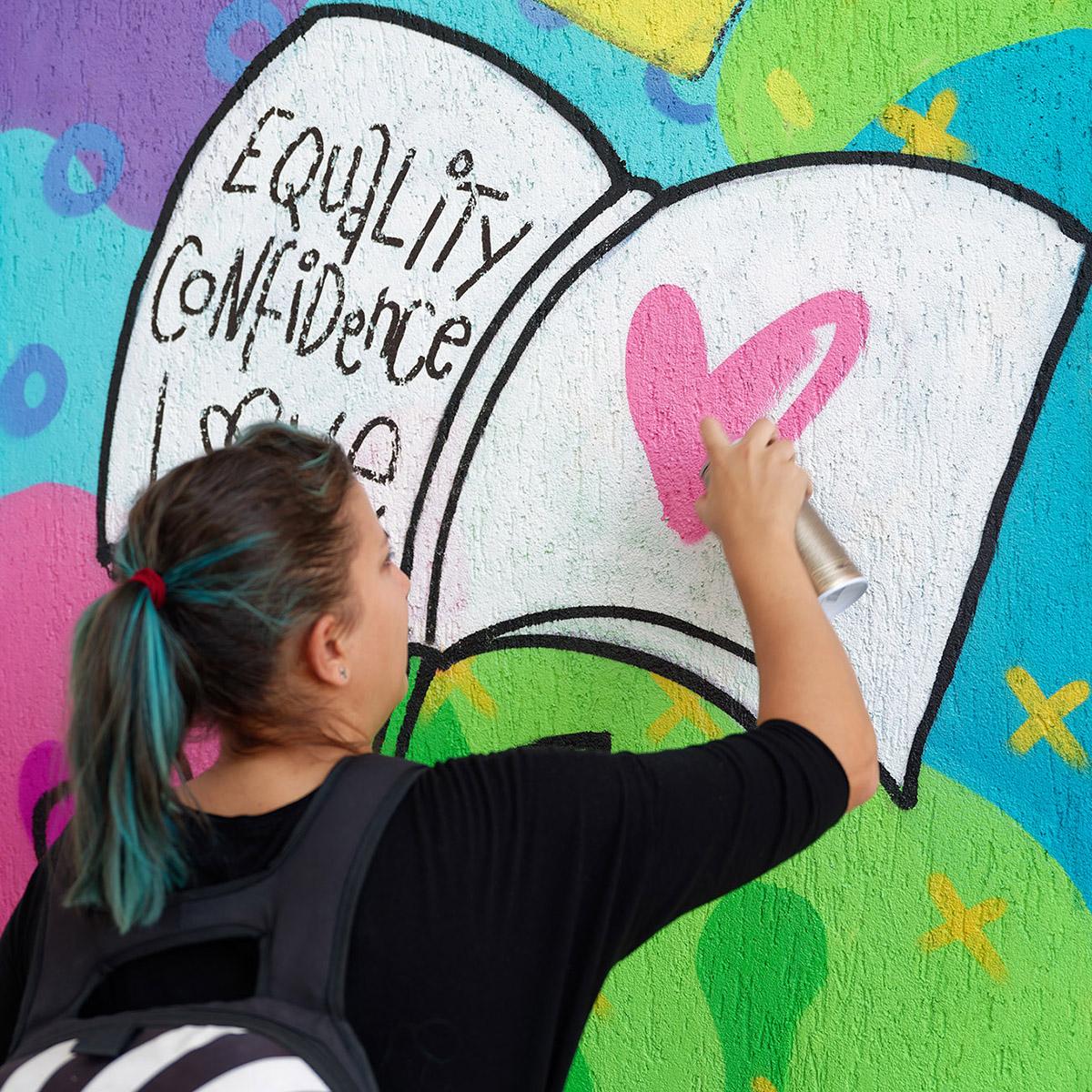 Serebe x Street Art Bucuresti la Scoala Gimnaziala Speciala Nr 9
