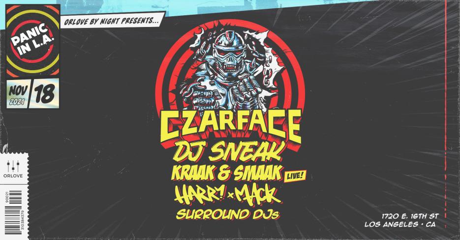 Panic in LA ft. Czarface (ft. Inspectah Deck), DJ Sneak, Kraak & Smaak, Harry Mack, Heidi Lawden