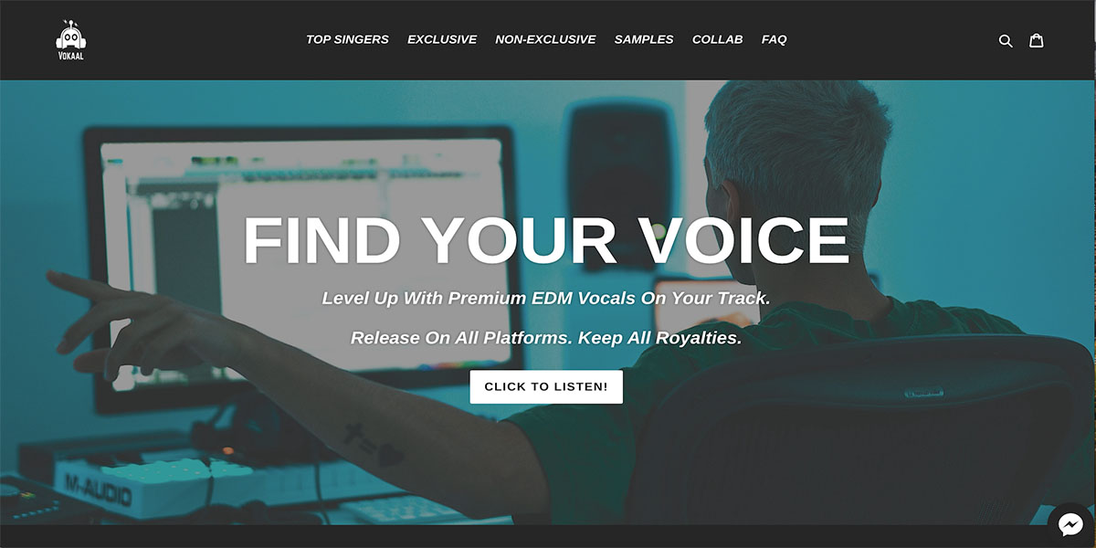 vokaal.com homepage