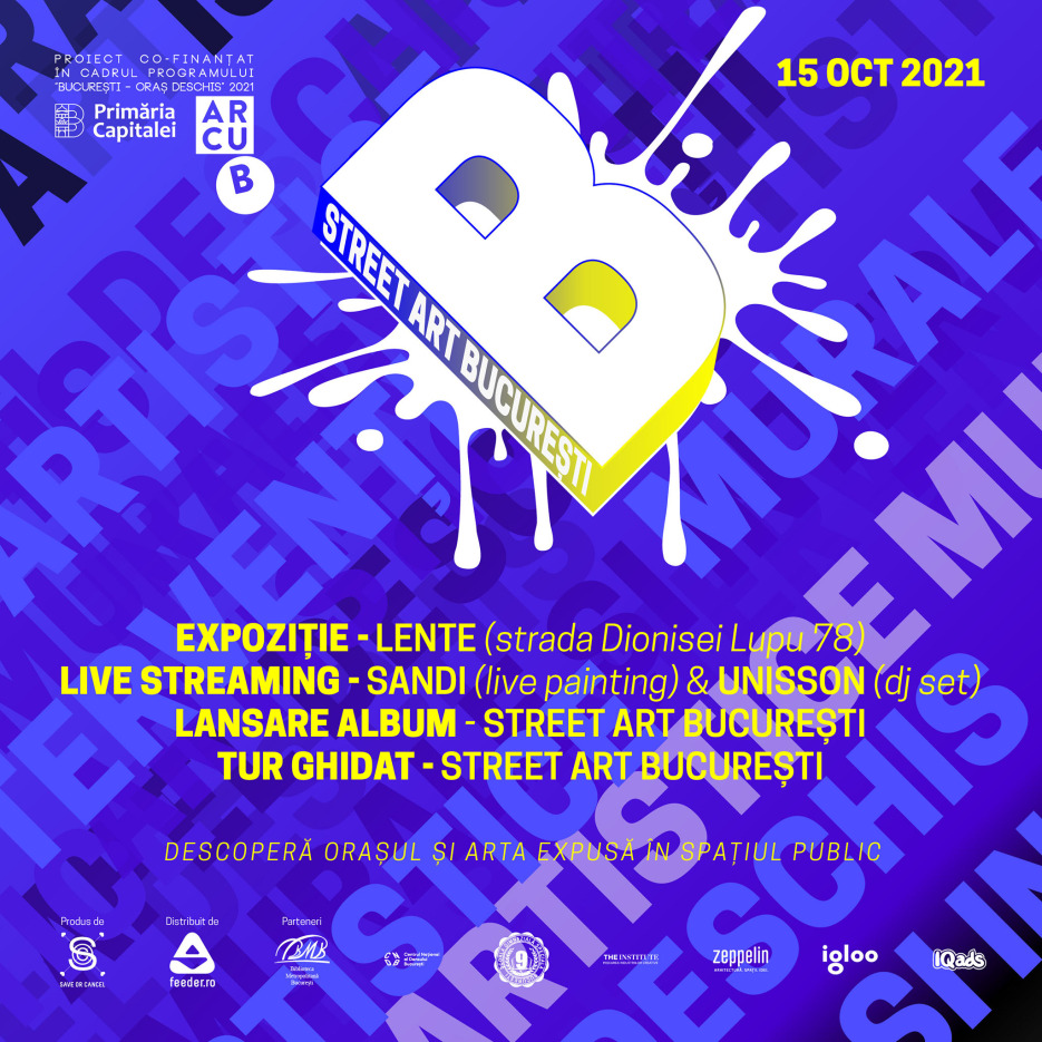 Expo live tur Street Art Bucuresti